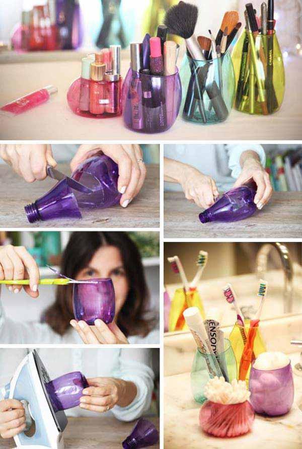Место для хранения из пластиковых бутылок