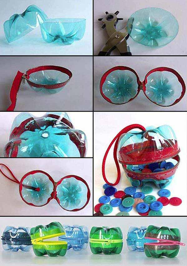 Шкатулка для аксессуаров из пластиковых бутылок