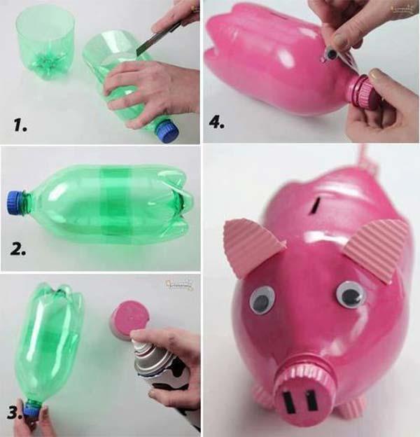 Поделки своими руками из пластиковых бутылок в детский сад