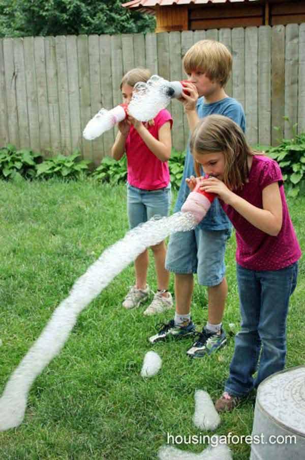 Пластиковые бутылки для рассеивания пузырей