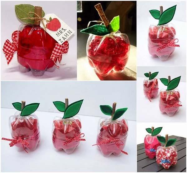 Упаковка для подарка из пластиковых бутылок