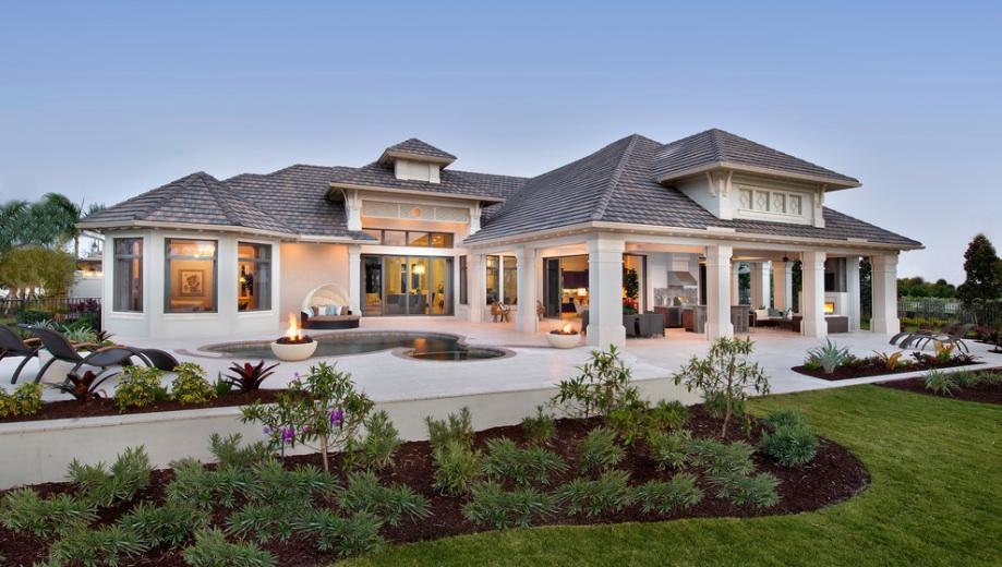 Красивое оформление внутреннего дворика