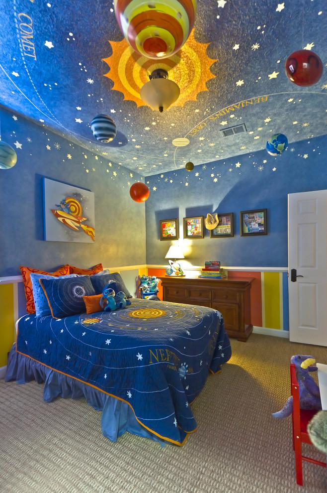 Космос на потолке в детской