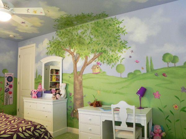 Расписной потолок в детской