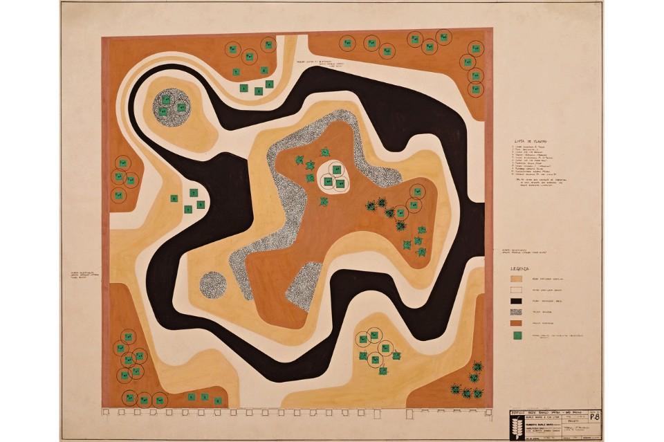 Архитектор Роберто Бурле-Маркс: абстрактная композиция 1