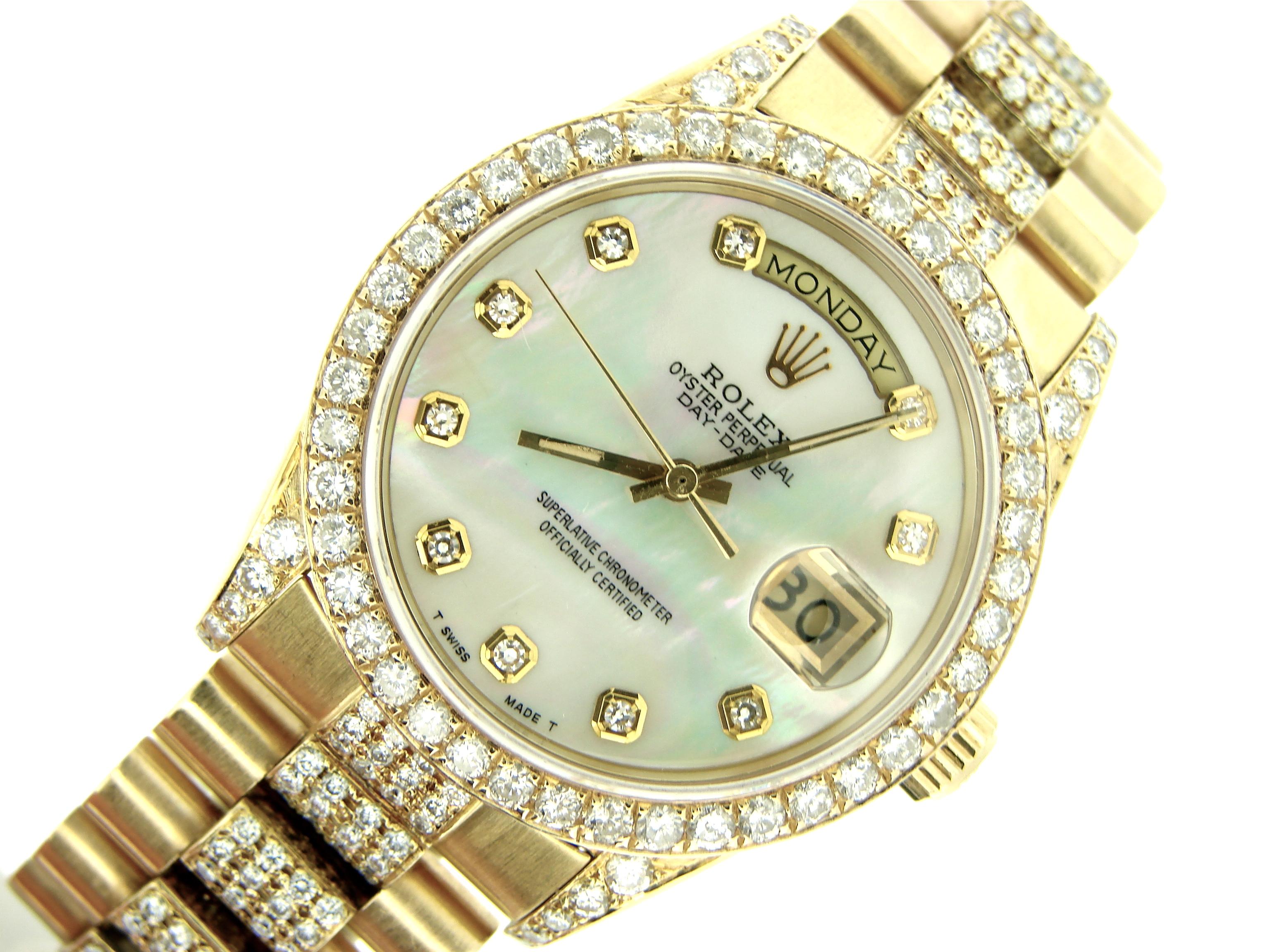 Мужские часы Day Date Presidential от Rolex с брильянтами