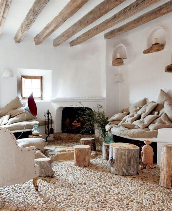 Замечательный интерьер кухни в деревенском стиле