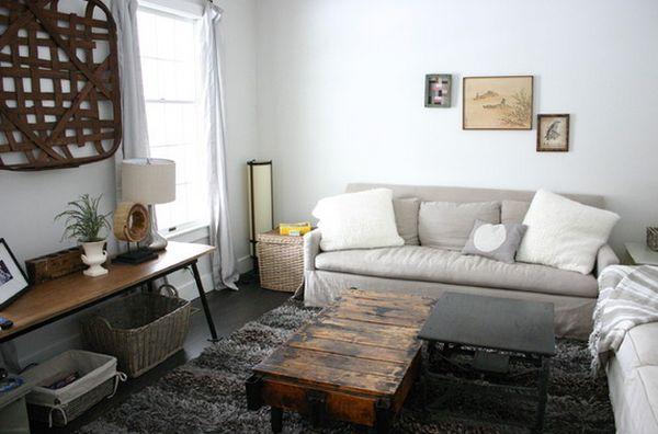 Уникальный интерьер гостиной в деревенском стиле