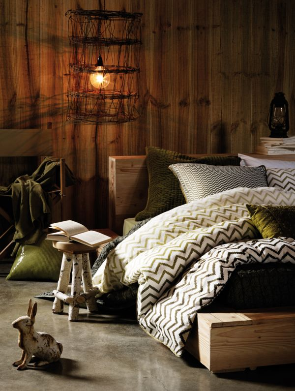 Шикарный интерьер спальни в деревенском стиле