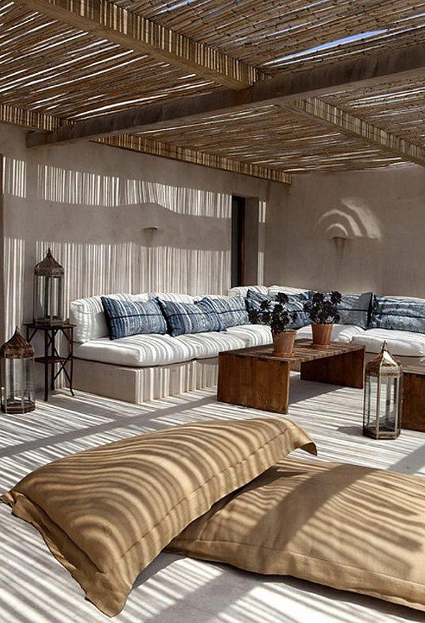 Восхитительный интерьер гостиной в деревенском стиле