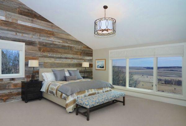 Прекрасный интерьер спальни в деревенском стиле