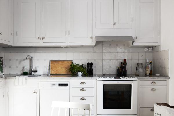Плитка с узорами на кухне