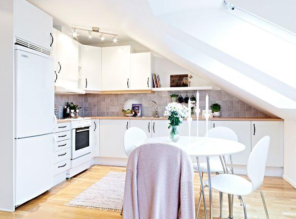 Чердачное помещение кухни