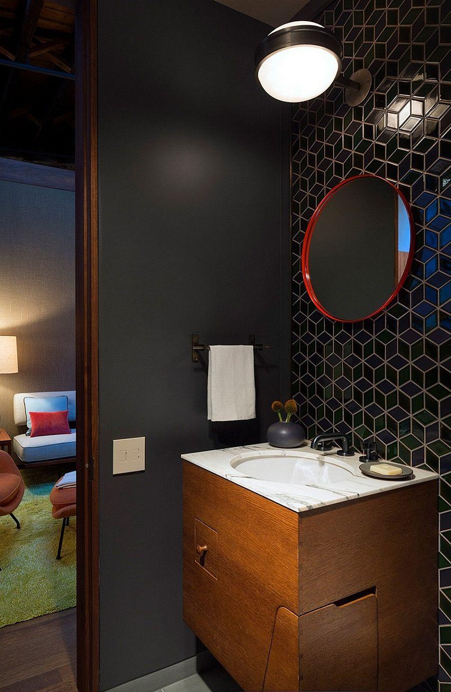 Умывальник в апартаментах Sensational NYC Loft в Нью-Йорке