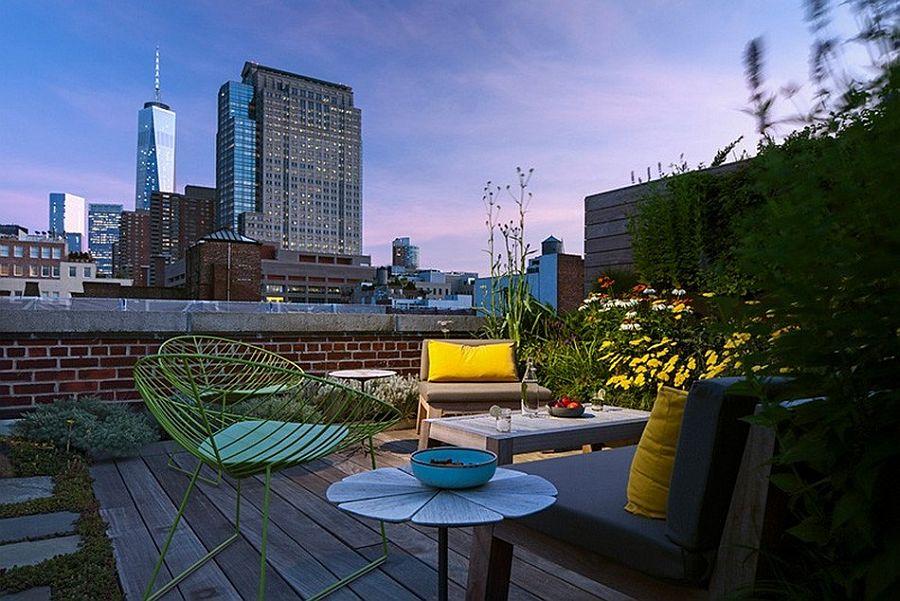 Терраса в апартаментах Sensational NYC Loft в Нью-Йорке