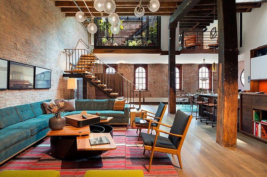 Гостиная в апартаментах Sensational NYC Loft в Нью-Йорке