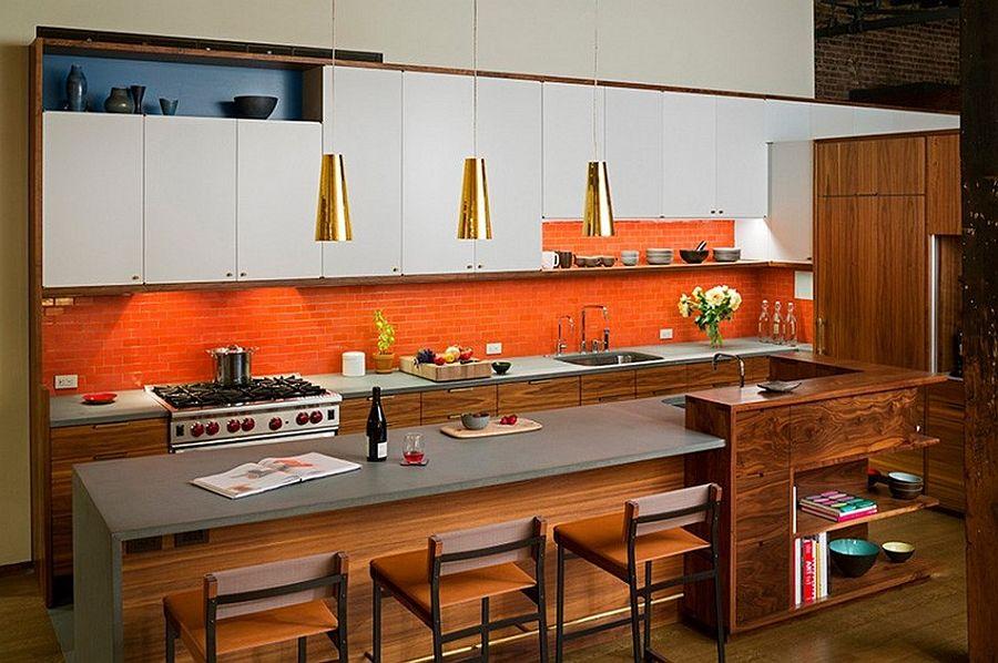 Кухонная зона в апартаментах Sensational NYC Loft в Нью-Йорке