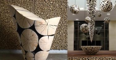 Необычная мебель из сосны от Jae Hyo Lee