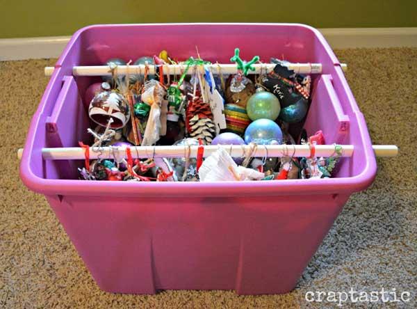 Ящик для хранения новогодних гирлянд