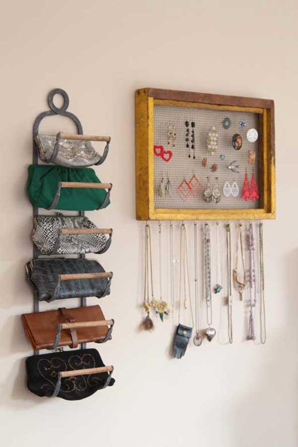 Настенное хранение сумок