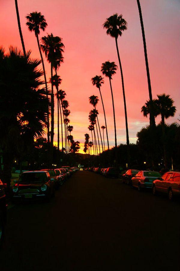 Закат над Калифорнией