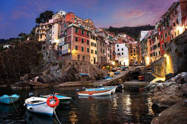Закат в Италии