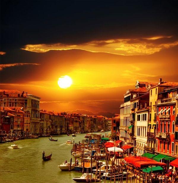 Закат над Венецией