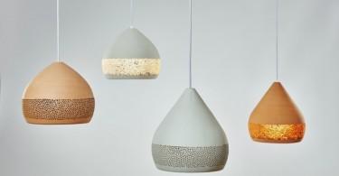 Универсальный дизайн разноцветных подвесных светильников куполообразной формы