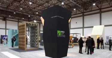Архитектурные свойства линолеума в дизайне стенда Folding Forbo Folie