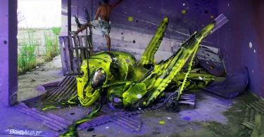 Bordalo II превращает мусор на улицах города