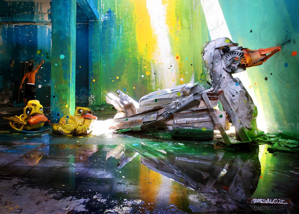 Утка из мусора
