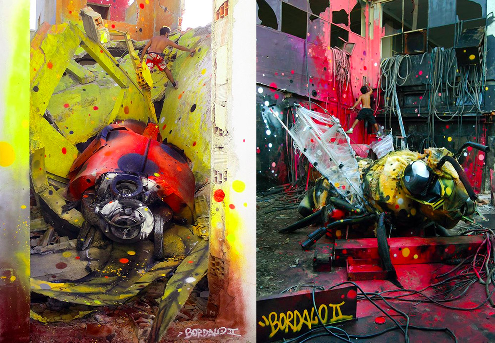 Стрит-арт из мусора