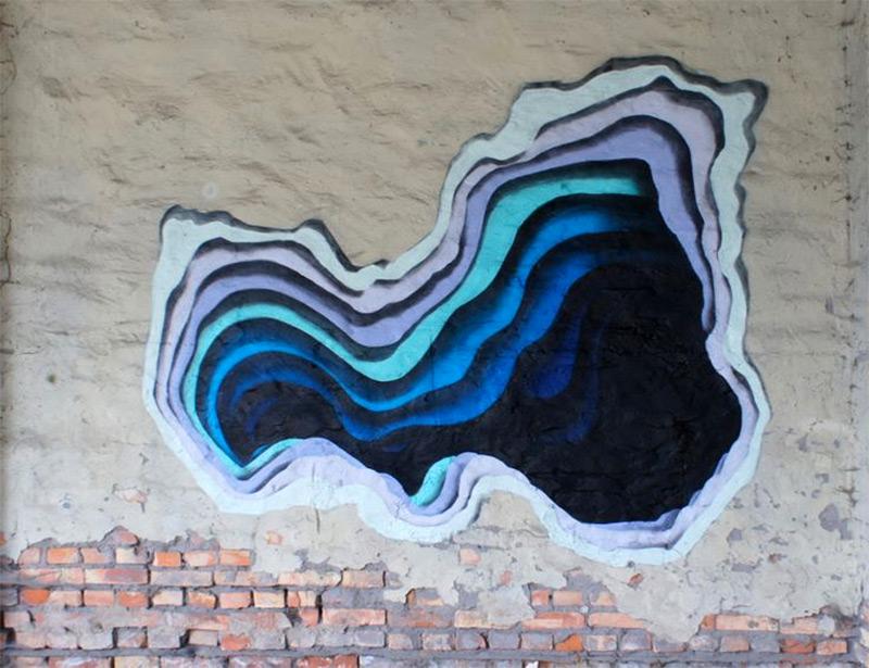 3D эффект рисунка на стене