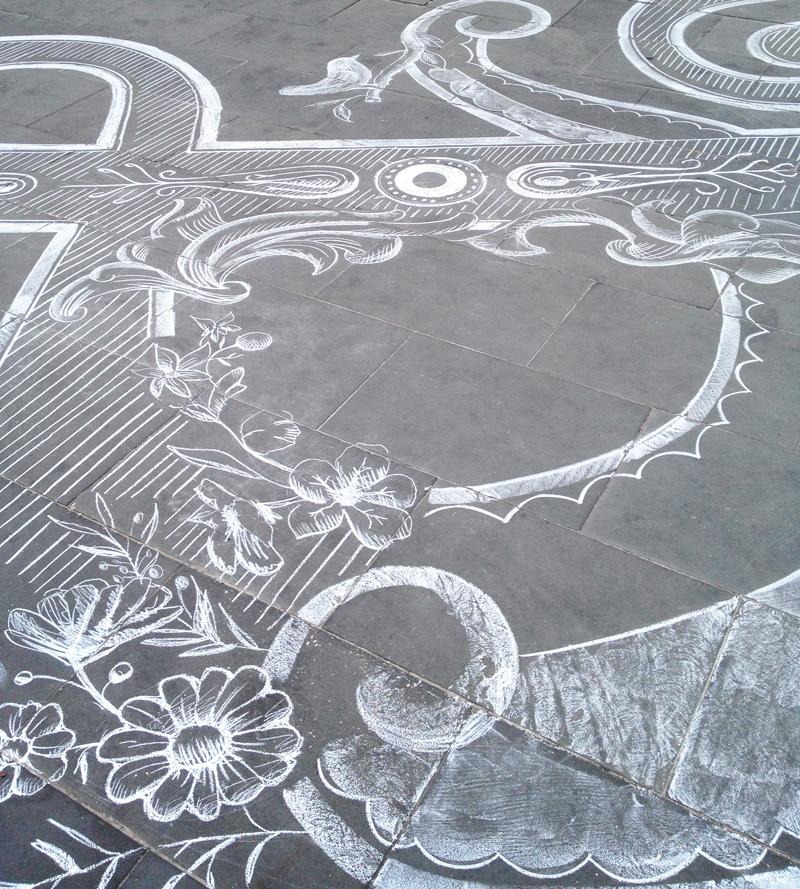 Креативный рисунок на асфальте