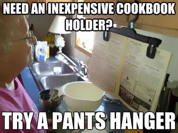 Крепления книги на кухне
