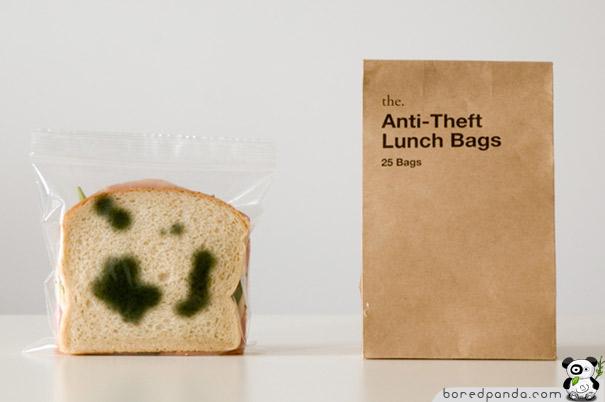 Бутерброд в прозрачном пакетике
