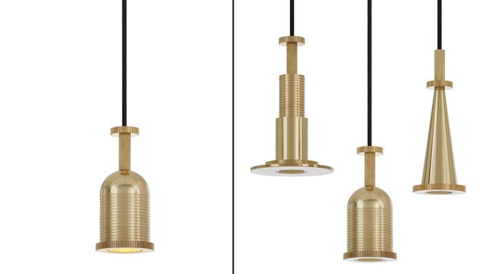 Уникальные светильники в золотистом облике Cog от Тома Диксона