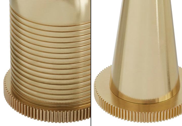 Восхитительные светильники в золотистом облике Cog от Тома Диксона