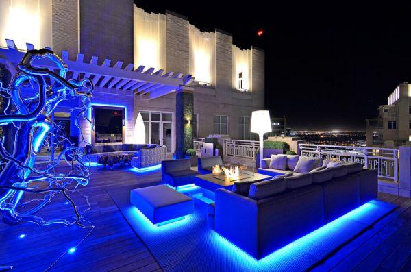 Чудесное светодиодное освещение мебели