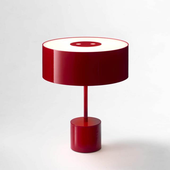 Красная настольная лампа Black Tie