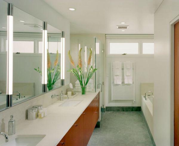 Встроенные светильники в ванной