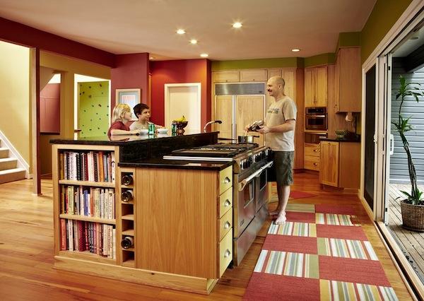 Разноцветный Ковёр на кухне