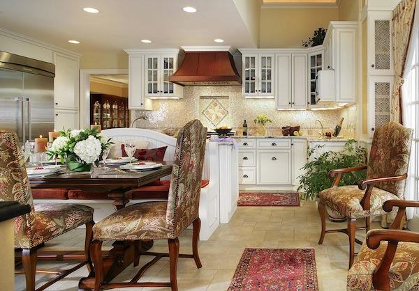 Красные ковры на кухне