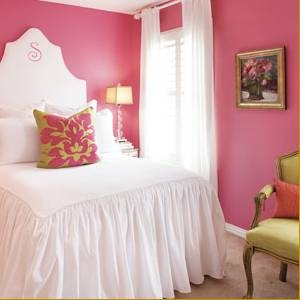 Розовая спальня в американском стиле