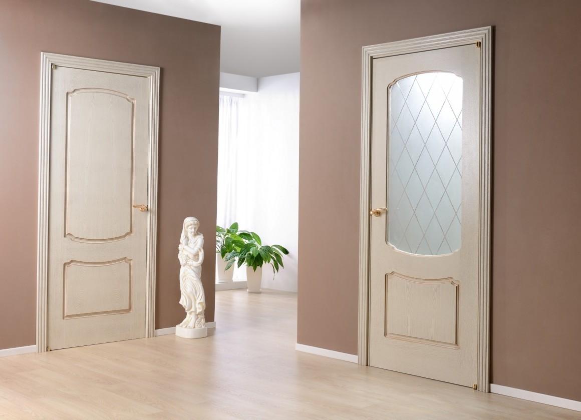 Двери бежевые в интерьере фото