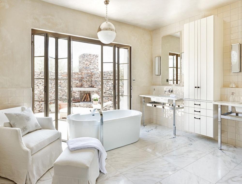 Открытый интерьер ванной