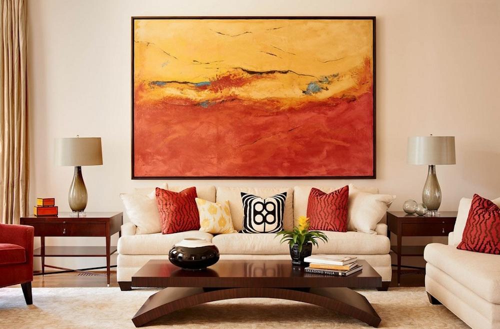 Живописная картина в гостиной