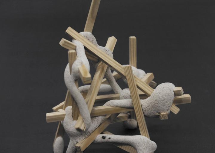 Деревянные бруски и волокна от Studio Ilio