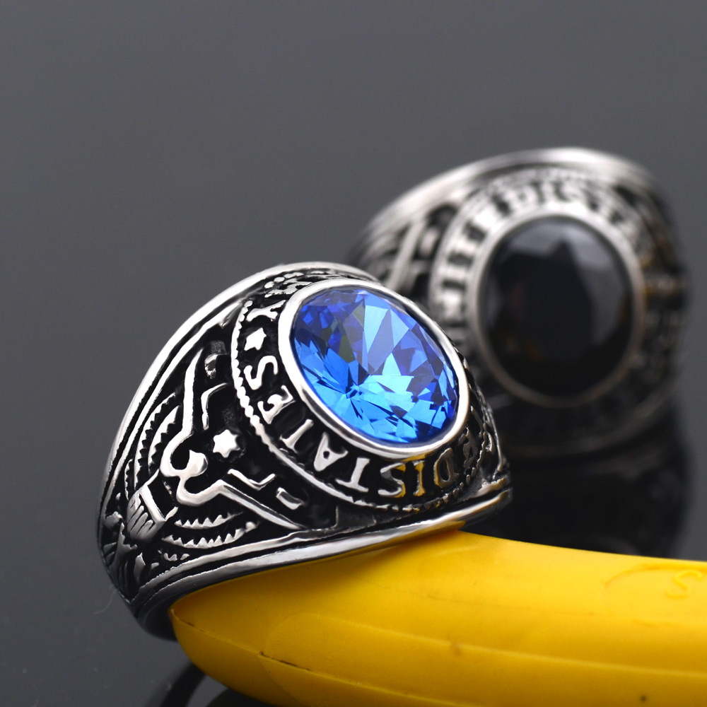 Steel rings are an unusual and, at the same time, elegant decoration.