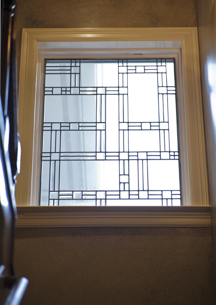 Узоры на окнах из освинцованного стекла